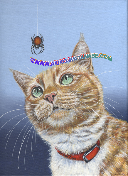 Spider (Orange Ginger Tabby cat Spider print) - Click Image to Close
