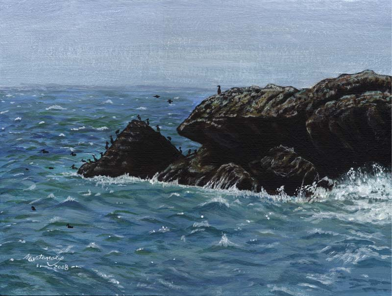 Rockaway Beach (9x12 original seascape painting)